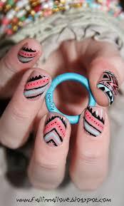 best 25 neon aztec nails ideas on pinterest tribal nail designs