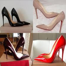 high heel shoes with red soles qu heel