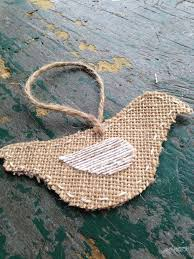burlap bird ornaments 5 steps with pictures