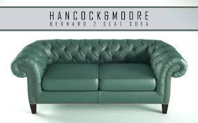 2 seat sofa hancock moore bernard 2 seat sofa 3d cgtrader