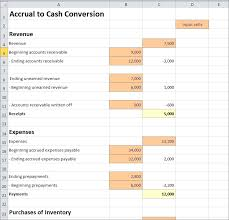 accrual to cash conversion excel worksheet double entry bookkeeping
