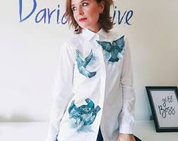 handpainted unique clothing by dariacreative on etsy
