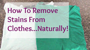 Best Stain Remover Clothes How To Remove Stains From Clothes Naturally Youtube