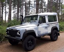 land rover defender 90 lifted land rover defender 90 td5 white 1999 lez compliant in