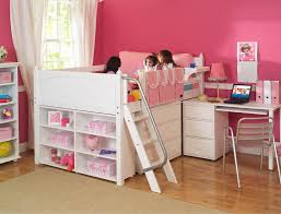 Girls Loft Bed With Desk Save Space With Kids Loft Bed With Desk U2014 All Home Ideas And Decor