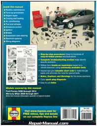 haynes ford fusion 2006 2014 mercury milan 2006 2011 auto repair