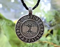 viking rune necklace yggdrasil viking necklace tree of