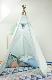 tente chambre hellblaues zelt selber bauen zelt tipi nähen enfants