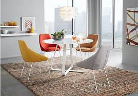 Reasonable Dining Room Sets by Selene White 5 Pc Dining Room With Burnt Orange Chairs 499 99