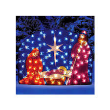walmart outdoor lighted nativity outdoor christm