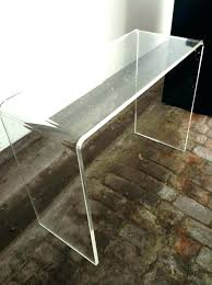 clear plastic console table clear console table rayline info