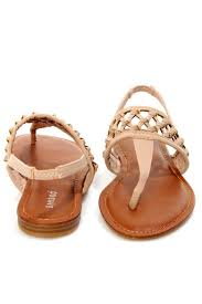 bamboo knotted thong sandals from california by that u0027s cherry