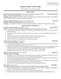 Financial Resume Example by Sample Resume Investment Banking 9 Investment Banker Resume