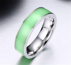 titanium wedding band reviews green glow in the couples rings for men titanium steel