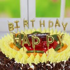 birthday cake candles unique gold birthday letter cake candles birthday candles