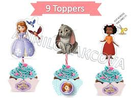 sofia the cupcake toppers princess sofia cupcake toppers