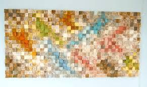 wood wall art geometric wood art mosaic mid century colours