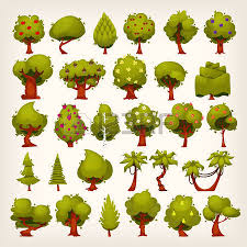 collection of all kinds of trees for your design royalty free