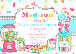 3rd Birthday Invitation Cards Bright Candy Shoppe Birthday Invitation Printable Choose