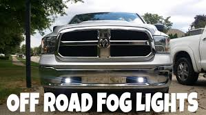 how to install off road fog lights 2015 ram youtube