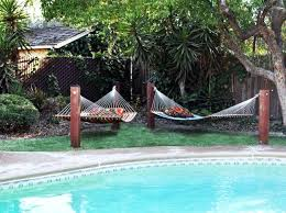 Hammock Backyard Outdoor Pool Decorating Ideas Diy Hammock Stands Backyard Ideas