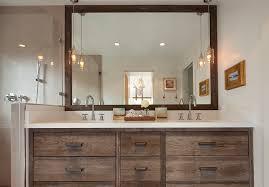 Rustic Bathroom Mirror - rustic bathroom vanity cabinets bathroom traditional with bathroom