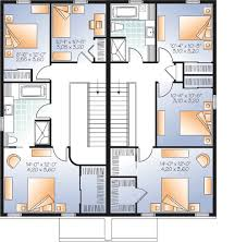 narrow lot multi family home plan 22327dr architectural
