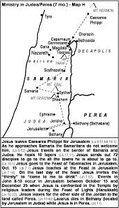 Judea Map Jesus Gospel Ministry Maps