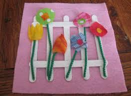 Gardening Crafts For Kids - preschool crafts for kids spring flowers fabric craft
