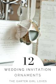 personalized wedding invitation ornaments