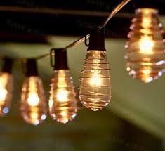 Edison Bulb Patio String Lights 10 Ft Edison Bulb String Lights 10x Copper Wrapped Bulbs Outdoor