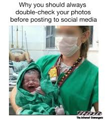 double check your photos before posting to social media adult meme
