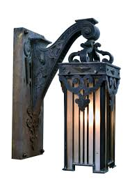 Sheryl Stringer by Single Cast Iron Entry Light W Leaf Green Finish Simple And