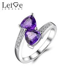 amethyst rings images Leige jewelry triangle cut amethyst ring 925 sterling silver jpg