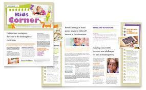 preschool u0026 kindergarten newsletter templates education u0026 training
