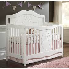 Baby Cribs 4 In 1 Convertible Storkcraft Princess 4 In 1 Convertible Crib White Walmart