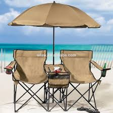 Beach Chair Umbrella Set Beach Double Chair With Cooler Table And Umbrella Buy Double