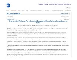 mta press release bridges tunnels reconstructed rockaway poin