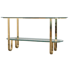 Sofa Table Design Glass Design Institute Of America Brass And Glass Console Table For Sale