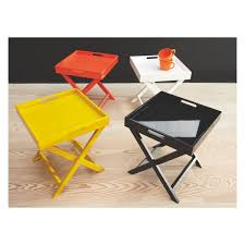 small sturdy folding table oken yellow folding side table with removable tray top buy now at