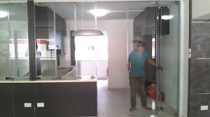 frameless door system open demo video singapore serangoon hdb 4