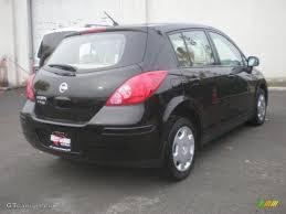 nissan versa black 2008 super black nissan versa 1 8 s hatchback 8401797 photo 3