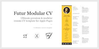 Resume Gpa Futur Modular Resume Template U2013 Exclusively For Apple Pages