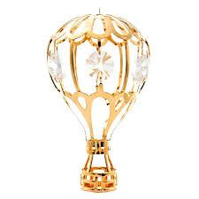 gold air balloon ornament