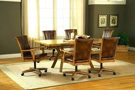 dinette table and chairs with casters caster dining room chairs dining chairs casters dining room chairs