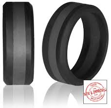 silicone wedding bands 8mm non bulky striped silicone wedding rings by knot theory