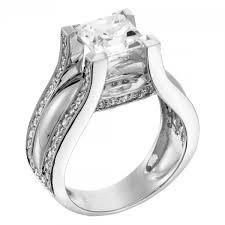 Princess Cut Wedding Ring by Engagement Rings Multi Stone Abigail Engagement Ring