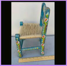 Toy Chair Hand Painted Child U0027s Toy Chair Mexican Tourist Folk Art Extra