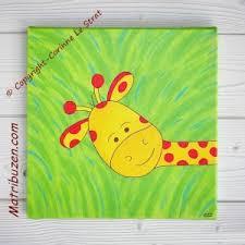 tableau pour chambre d enfant tableau enfant girafe savane jungle décoration murale pour la