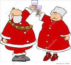 champagne celebration cartoon holidays a claus toast stock illustration i1439428 at featurepics